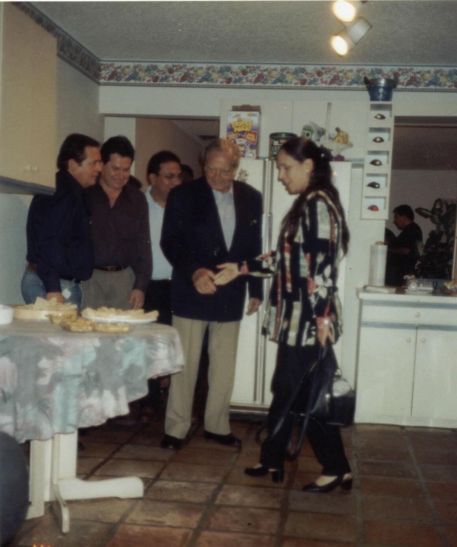De Izq a der Frank Castanon,Marco Tirado, Miguel Puelles, Armando Villanueva, Maria Rosa Quiroz